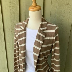 Caslon | Tan & White Cotton Blazer